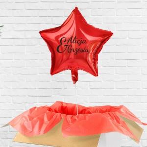 Poczta balonowa - balon niespodzianka z imieniem na prezent dla pary