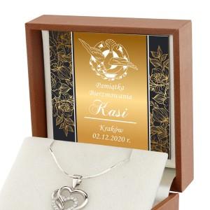 Srebrny naszyjnik z dedykacją na pamiątkę bierzmowania