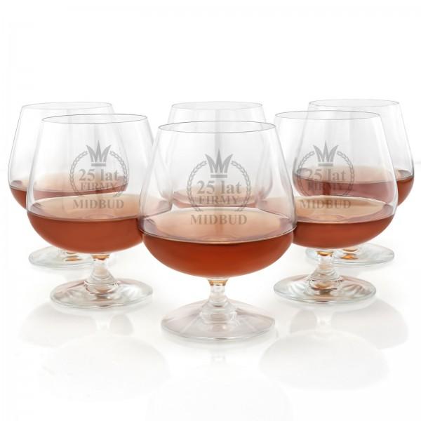 Komplet kieliszków do brandy na jubileusz firmy