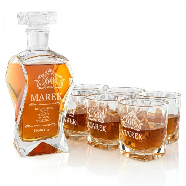 Zestaw szklanek do whisky z grawerowanie,