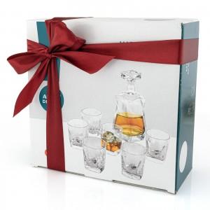 Zestaw do whisky karafka i 6 szklanek