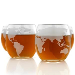Grawerowane szklanki do whisky globus
