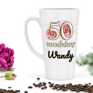 kubek z nadrukiem na 50 urodziny