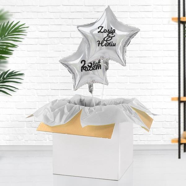 Balony na prezent na srebrną rocznicę ślubu