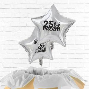poczta balonowa na prezent na 25 rocznicę ślubu