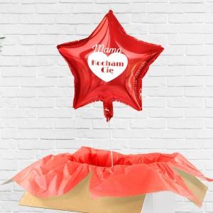 Balon z helem czerwony poczta balonowa