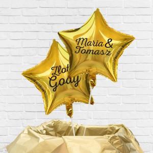 Balony z helem z nadrukiem imion na prezent na 50 rocznicę