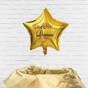 poczta balonowa na ślub - balonik z nadrukiem nazwiska