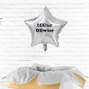 Balonik z nadrukiem na prezent urodzinowy