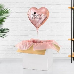 Balon z nadrukiem z helem na prezent dla niej