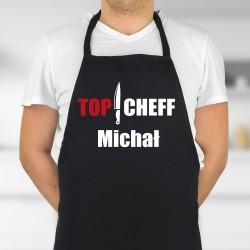 Fartuch meski kuchenny z nadrukiem imienia topchef