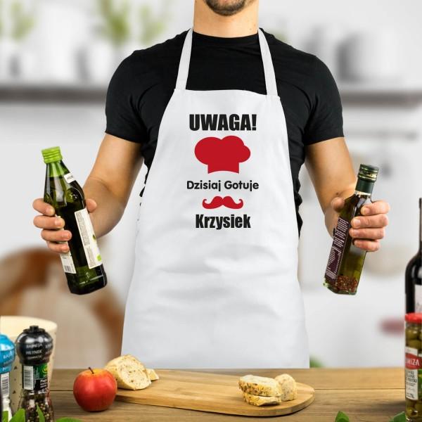 kuchenny fartuszek z nadrukiem imienia