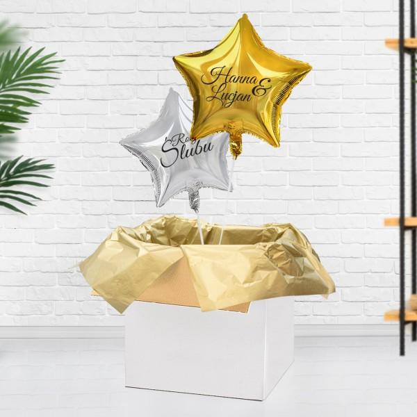 Balony z helem jako prezent na rocznicę ślubu