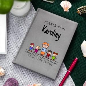 Planer z nadrukiem imienia na prezent dla przedszkolanki