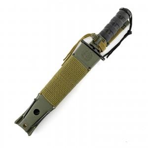 nóż wojskowy czarny w pokrowcu khaki