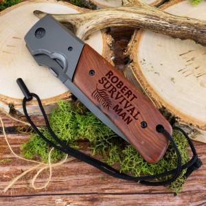Kandar nóż składany z grawerowaniem