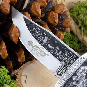Nóż myśliwski zdobiony z grawerem imienia na prezent dla faceta