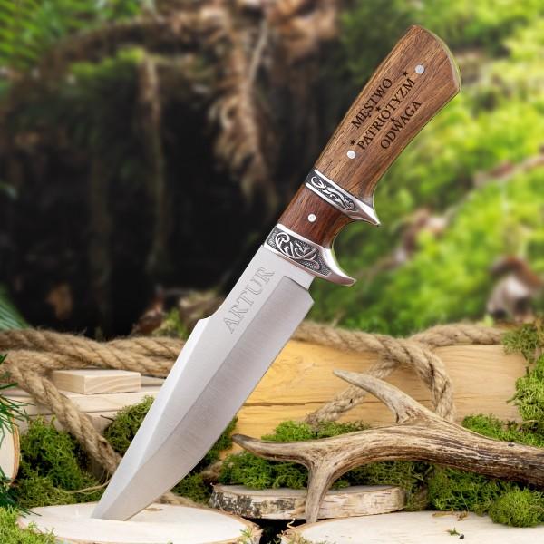 nóż z grawerem imienia myśliwski
