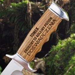 nóż kandar z grawerem imienia na prezent urodzinowy