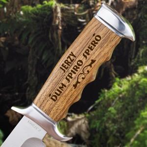 nóż myśliwski kandar z grawerem imienia na prezent