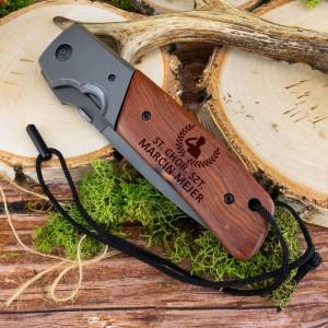 składany nóż z grawerem imienia na prezent dla żołnierza