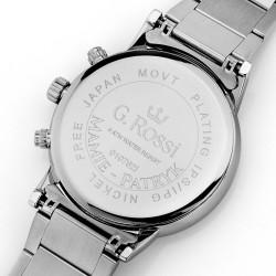 srebrny zegarek gino rossi z grawerem dla niej