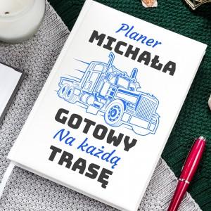 planer z nadrukiem imienia na prezent dla kierowcy ciężarówki
