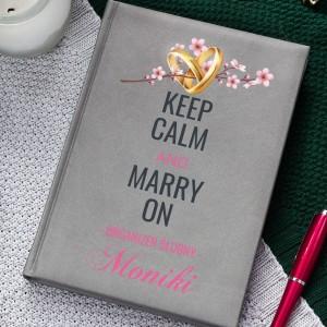 Planer organizer ślubny z nadrukiem imienia na prezent dla niej