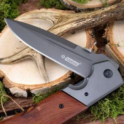 składany nóż myśliwski z grawerem na prezent