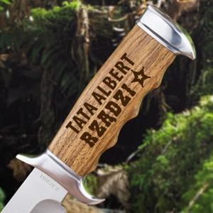 nóż z grawerem imienia na prezent dla taty