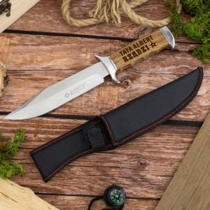 nóż z grawerem na prezent dla taty + etui