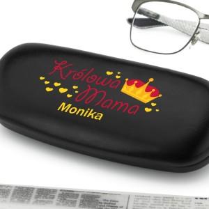 etui na okulary z nadrukiem imienia na prezent dla mamy