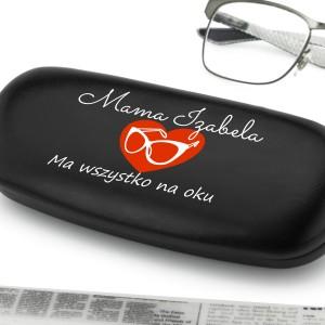 etui na okulary z nadrukiem dla mamy