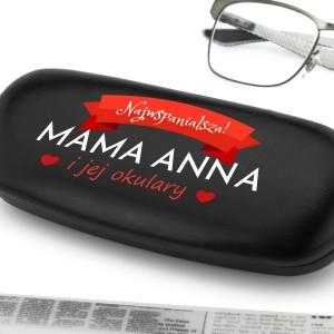 etui na okulary z nadrukiem imienia dla mamy
