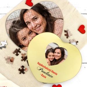 puzzle w puszce z nadrukiem dla mamy