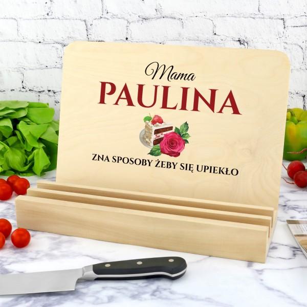 podstawka pod książkę kucharską z nadrukiem dla mamy