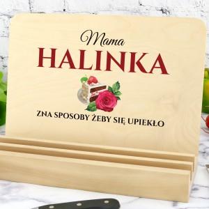 podstawka pod książkę kucharską z nadrukiem imienia dla mamy