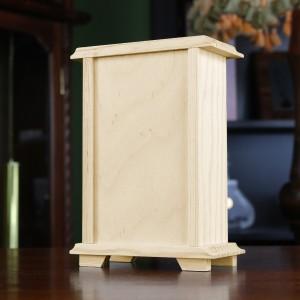 drewniany zegar szafkowy