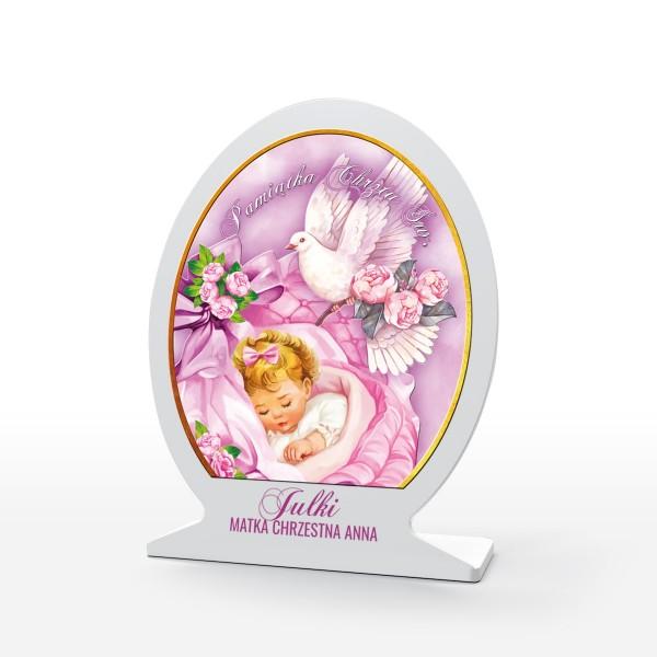 obrazek z pleksi na pamiątkę chrztu