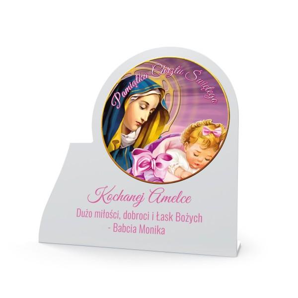 obrazek na pamiątkę chrztu dla dziewczynki