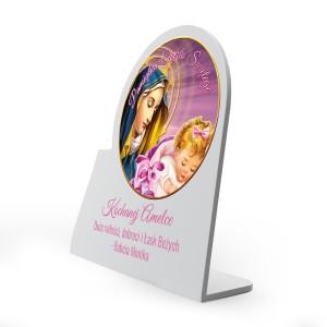 obrazek z dedykacją na pamiątkę chrztu dla dziewczynki
