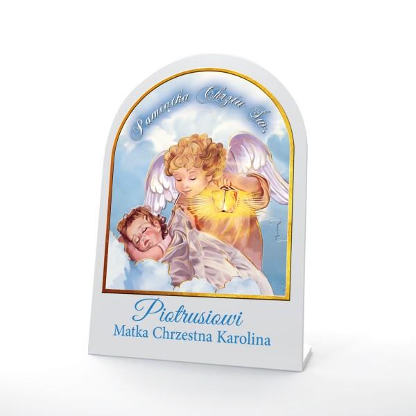 obrazek święty na prezent na chrzest