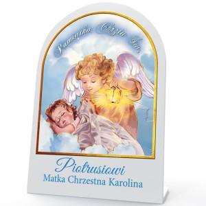 obrazek święty z nadrukiem imienia na prezent na chrzest