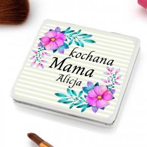 lusterko kieszonkowe z nadrukiem imienia  na prezent dla mamy