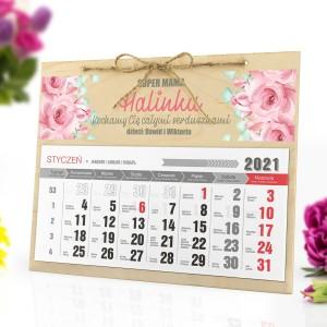 kalendarz drewniany na 2021 rok