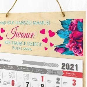 kalendarz ścienny 2021 rok z personalizacją