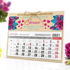 kalendarz personalizowany 2021 dla mamy