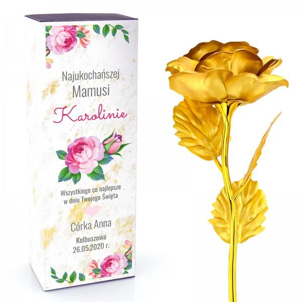 wieczna róża złota na prezent dla mamy