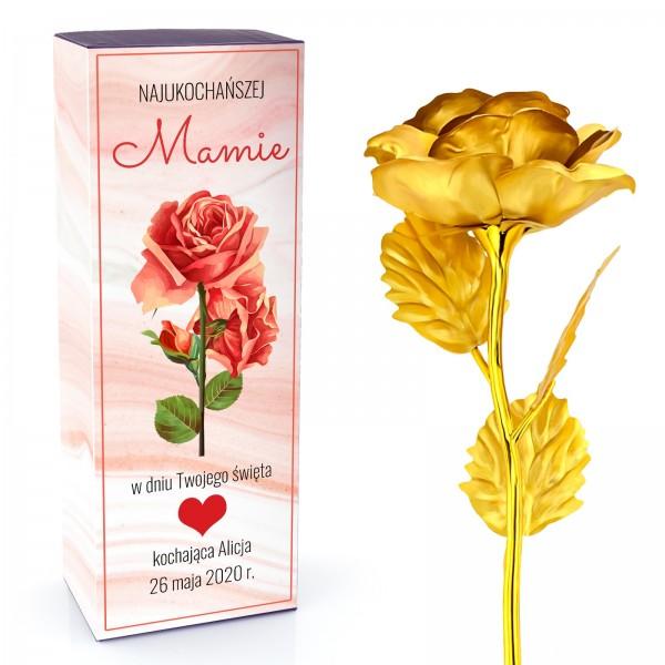 złota róża 24 k na prezent dla mamy