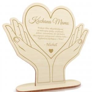 statuetka drewniana dla mamy